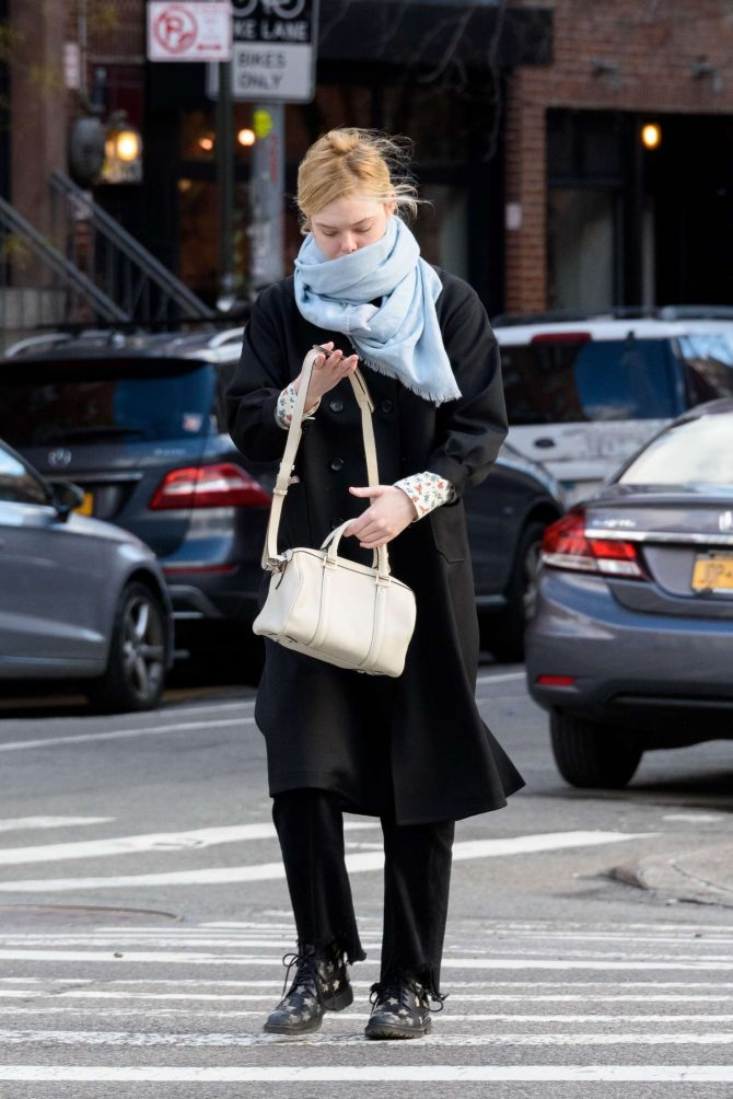 Elle Fanning: Out and about in NYC -01