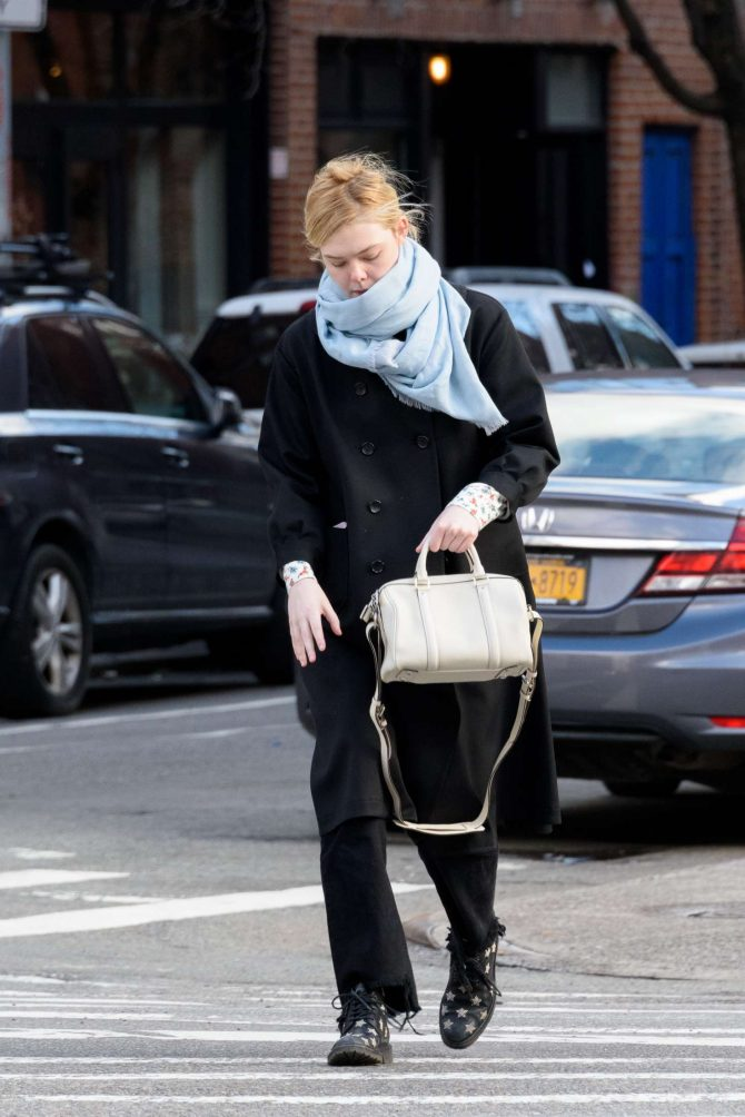 Elle Fanning: Out and about in NYC -02