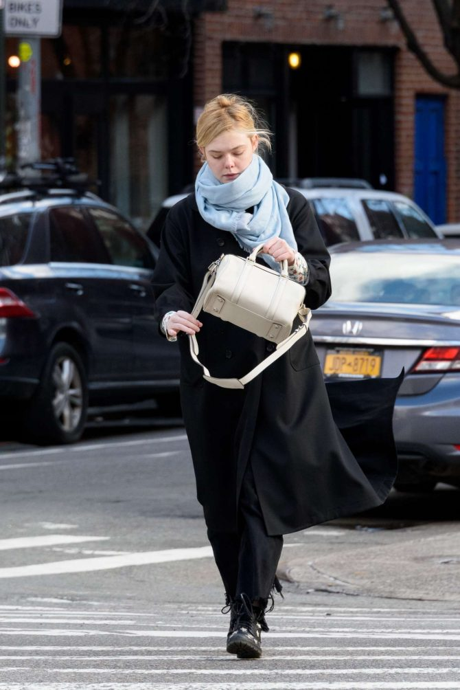 Elle Fanning: Out and about in NYC -04