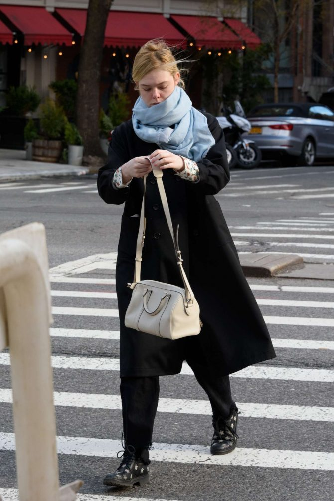 Elle Fanning: Out and about in NYC -07
