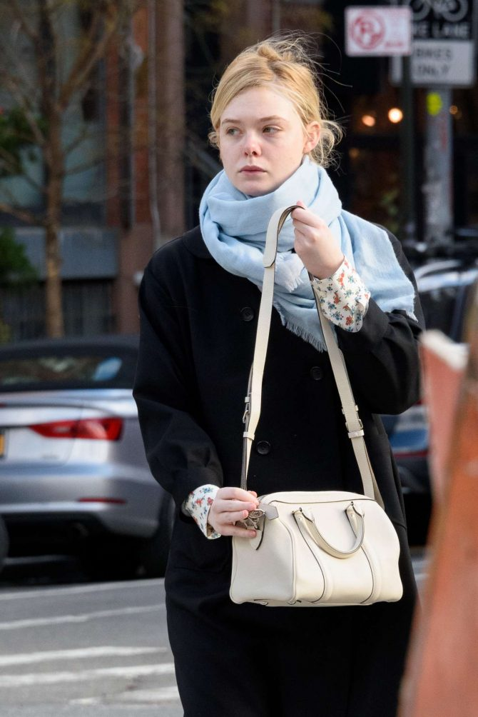 Elle Fanning - Out and about in NYC