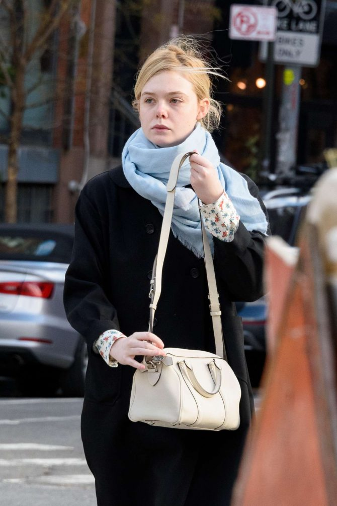 Elle Fanning: Out and about in NYC -09
