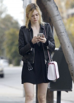 Elle Fanning: Out and about in Studio City -07