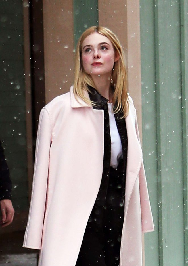 Elle Fanning out at 2017 Sundance Film Festival in Utah