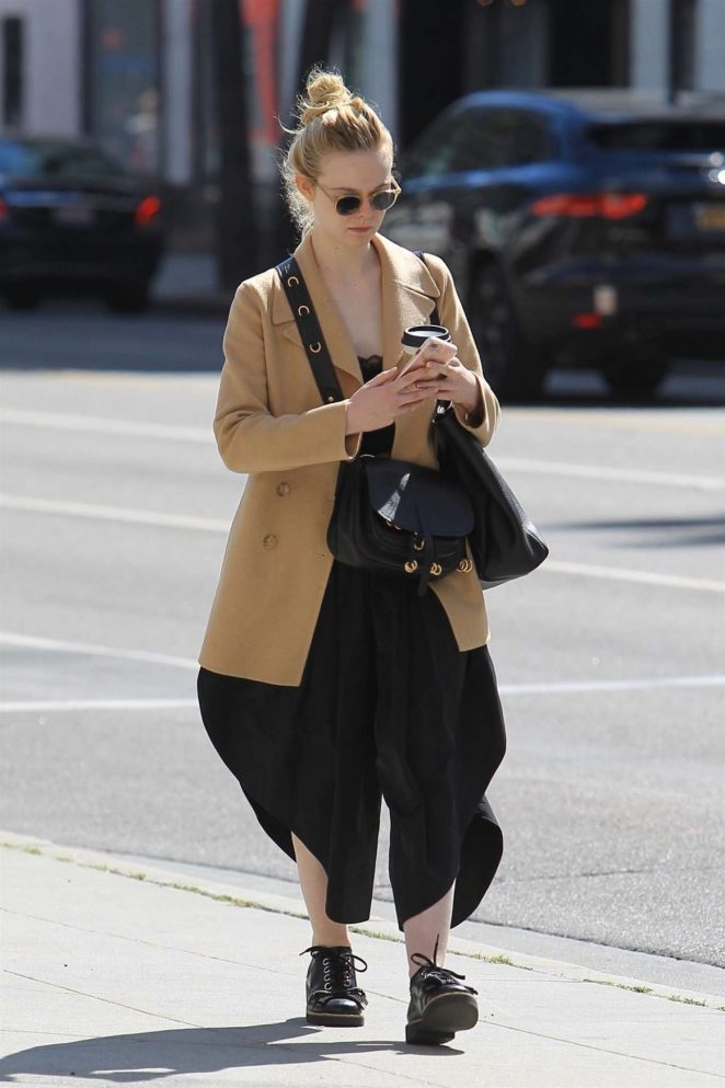 Elle Fanning - Out in Beverly Hills