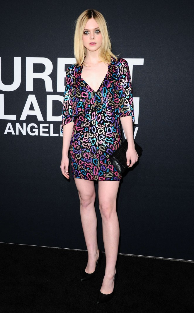 Elle Fanning - Saint Laurent Show in Los Angeles