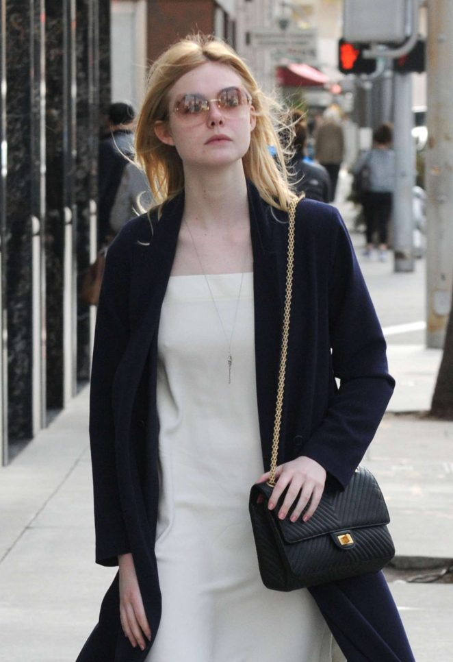 Elle Fanning - Shopping at Along Rodeo Drive in Beverly Hills