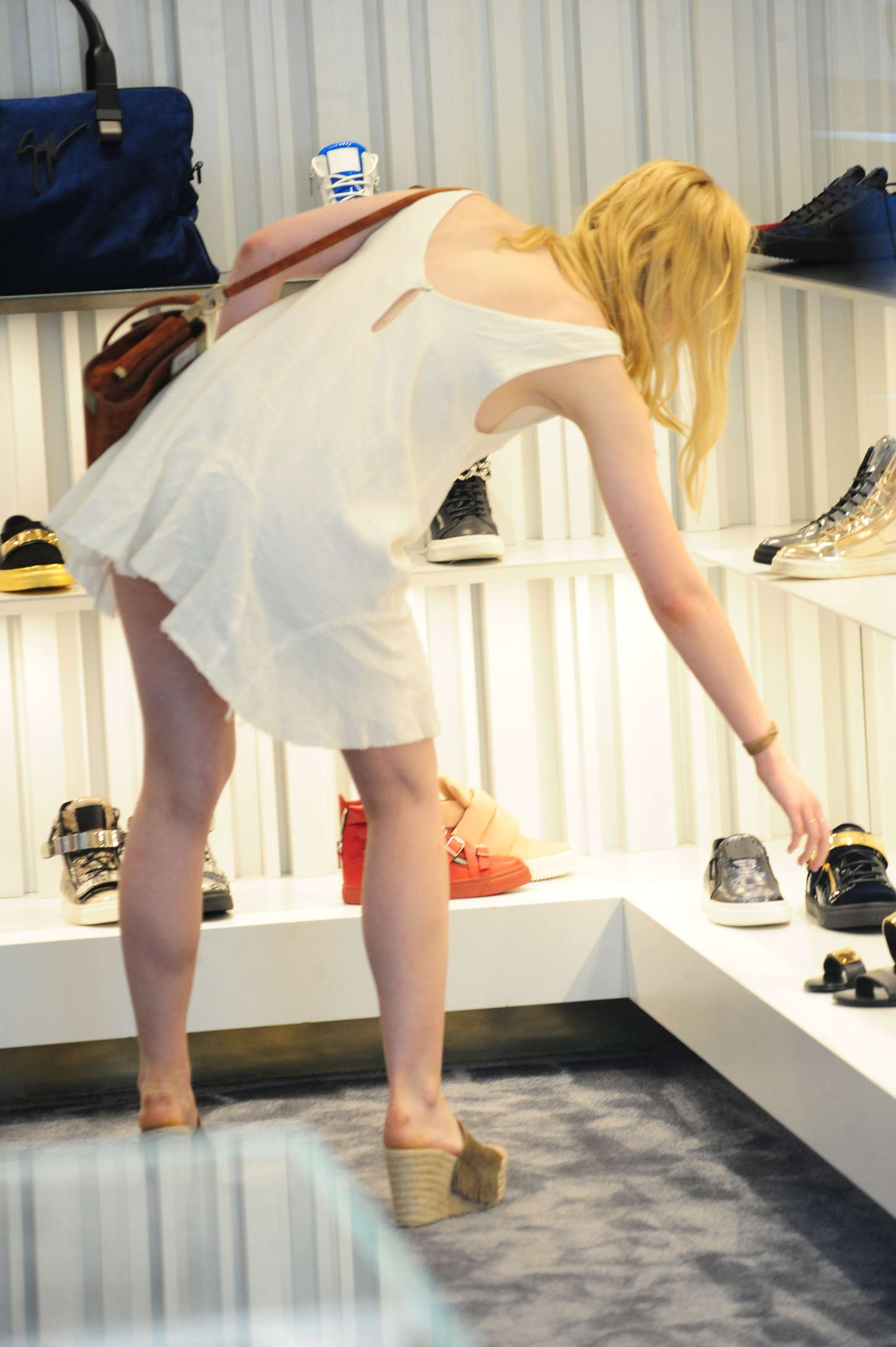 Elle Fanning in Short Dress -39 - GotCeleb