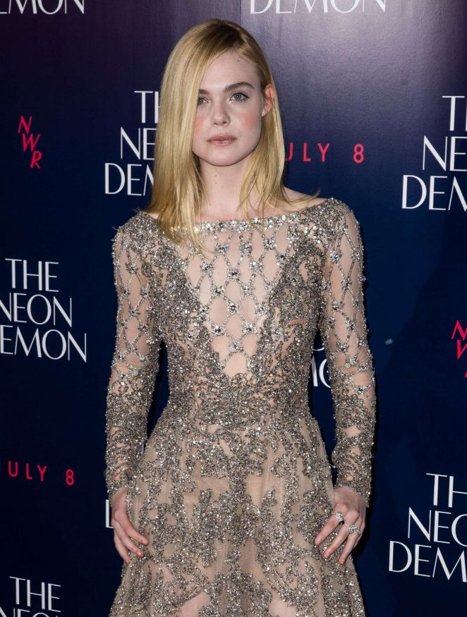 Elle Fanning – 'The Neon Demon' Premiere in London