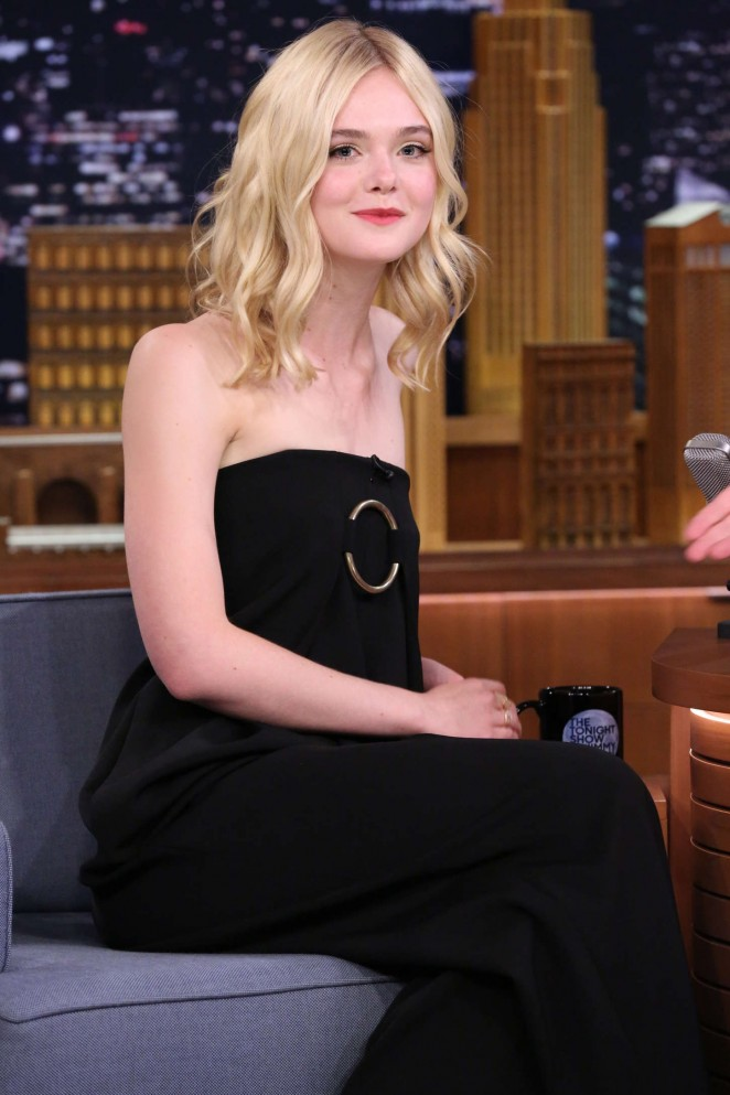 Elle Fanning - 'The Tonight Show Starring Jimmy Fallon' in NYC