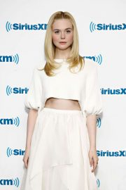 Elle Fanning - Visiting SiriusXM Radio in NYC