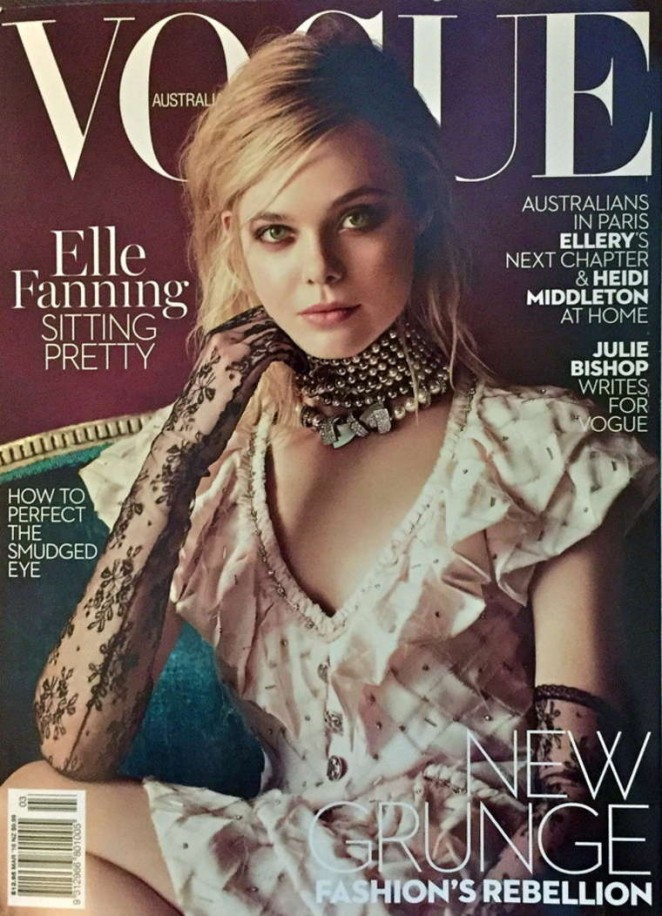 Elle Fanning - Vogue Australia Cover (March 2016)