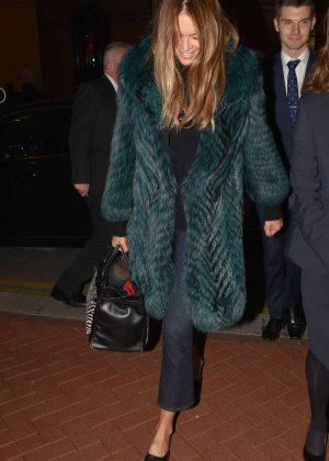 Elle Macpherson Arriving at The Westbury Hotel in Dublin