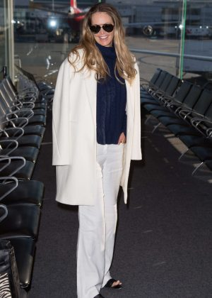 Elle Macpherson at Airport in Melbourne