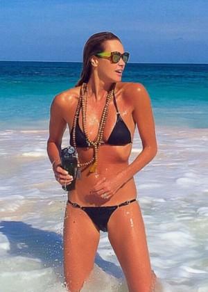 Elle Macpherson in Bikini - Twitter pic