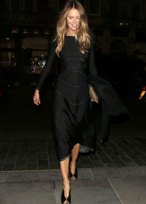 Elle MacPherson in Black Dress out in London