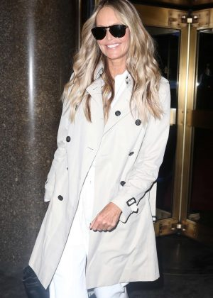 Elle Macpherson - Leaving the 'Today Show' in New York City