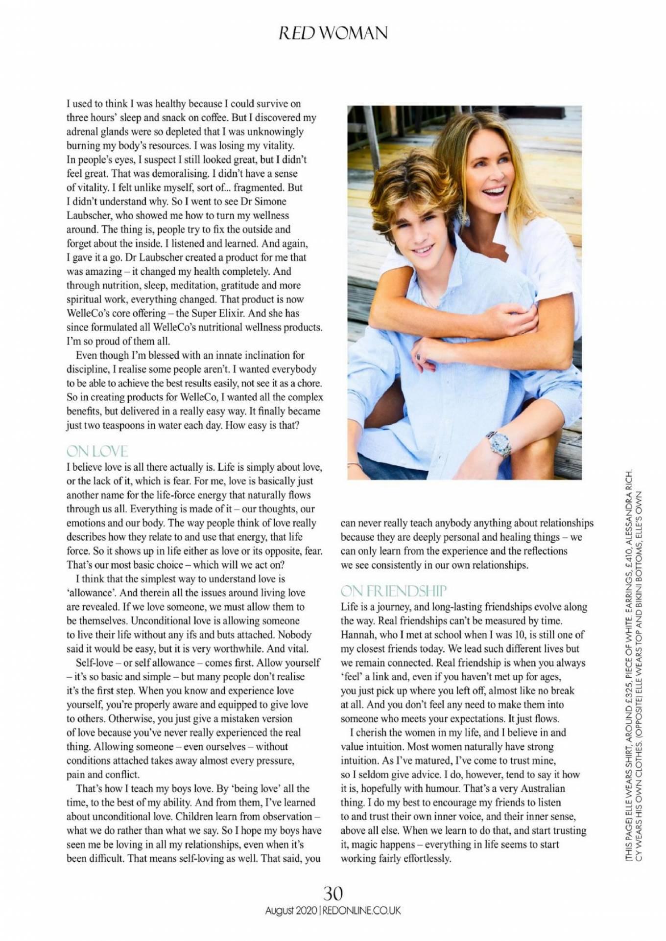 Elle MacPherson 2020 : Elle MacPherson – Red Magazine (UK – August 2020 isseu)-06