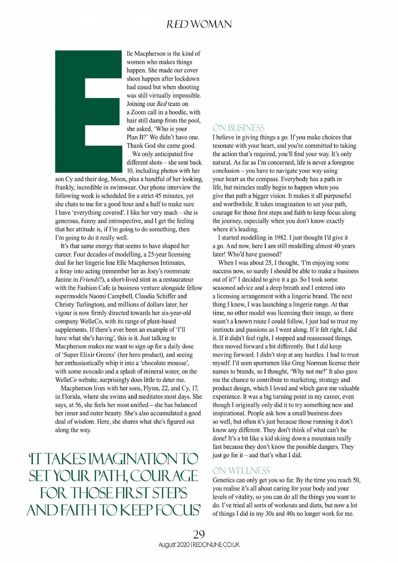 Elle MacPherson 2020 : Elle Macpherson – Red UK Magazine 2020-04