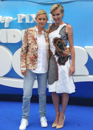 Ellen DeGeneres and Portia De Rossi - 'Finding Dory' Premiere in London