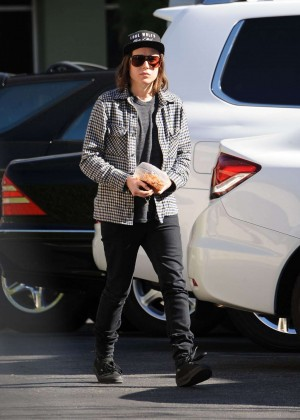 Ellen Page at Hugo's Tacos in West Hollywood