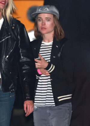 Ellen Page at Katy Perry Halloween Party in Hollywood