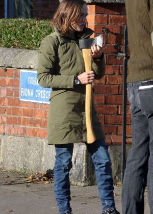 Ellen Page - Filming Scenes For 'The Third Wave' in Dublin