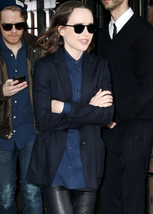 Ellen Page - Leaving her Hotel in New York City