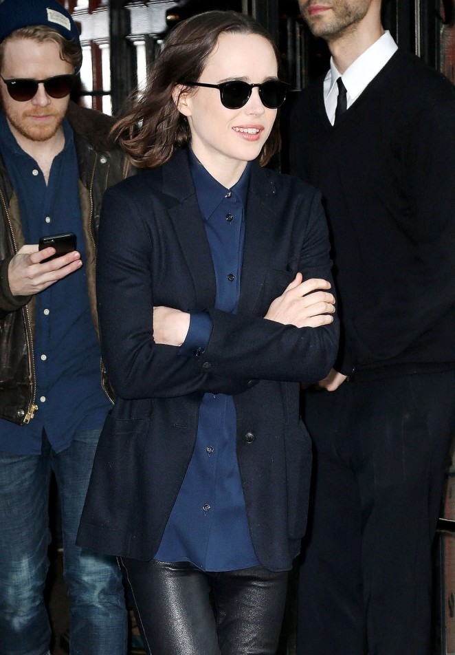 Ellen Page – Leaving her Hotel in New York City