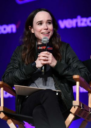 Ellen Page - Netflix & Chills Panel at 2018 New York Comic Con