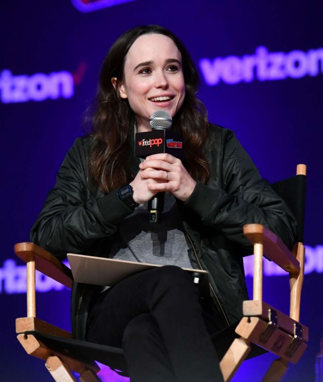 Ellen Page – Netflix & Chills Panel at 2018 New York Comic Con