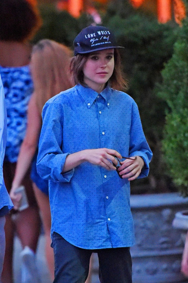 Ellen Page - Out for dinner in NYC