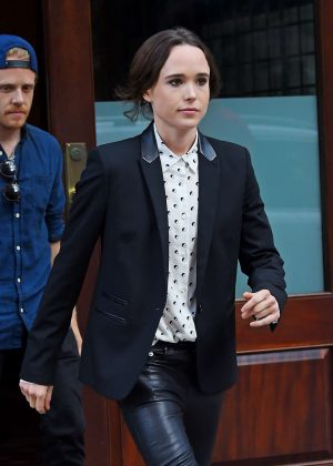 Ellen Page out in Tribeca New York