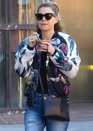 Ellen Pompeo at Go Greek Yogurt in Beverly Hills