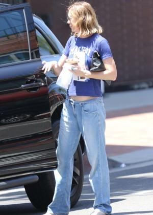 Ellen Pompeo in Jeans at Go Greek Yogurt in Beverly Hills