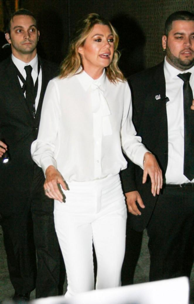 Ellen Pompeo at Jimmy Kimmel Live Show in Hollywood