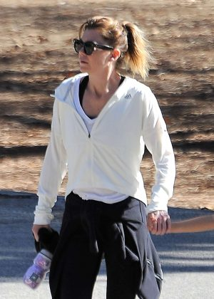 Ellen Pompeo hiking in Los Feliz
