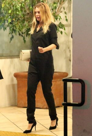 Ellen Pompeo - in all black at E Baldi in Beverly Hills