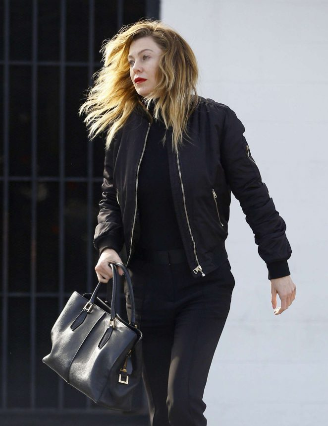 Ellen Pompeo in Black Outfit out in Los Angeles
