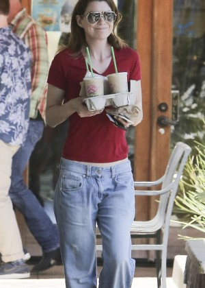 Ellen Pompeo in Jeans Out in LA