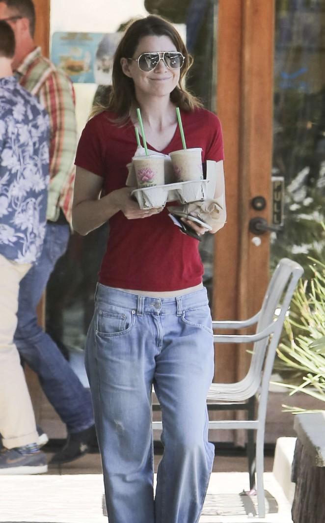 Ellen Pompeo in Jeans Out in LA
