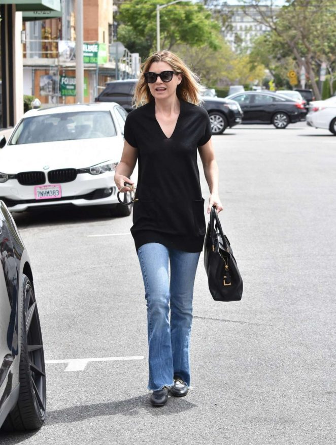 Ellen Pompeo in Jeans Out in Beverly Hills