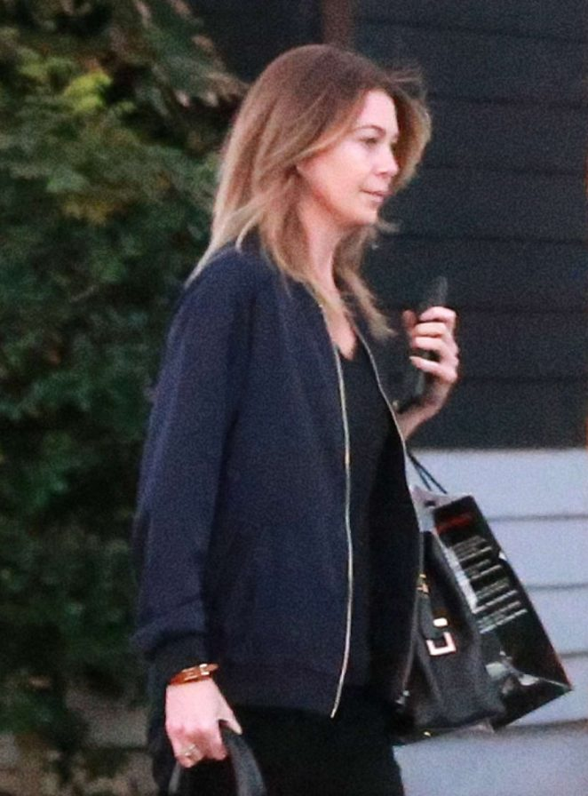 Ellen Pompeo - Leaving hair salon in West Hollywood