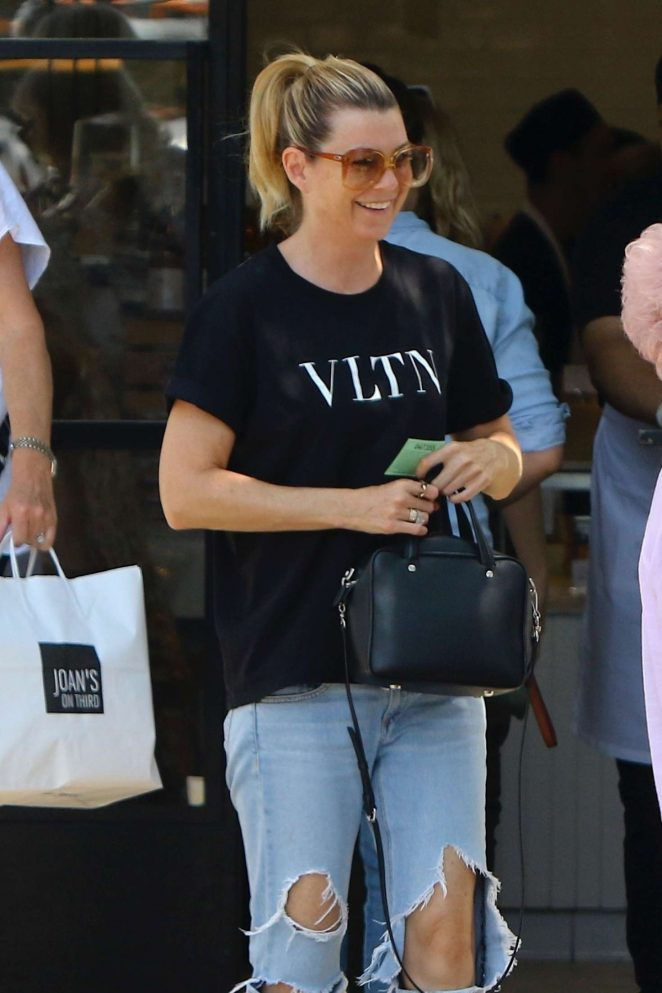Ellen Pompeo - Leaving Joan's on Third in Los Angeles