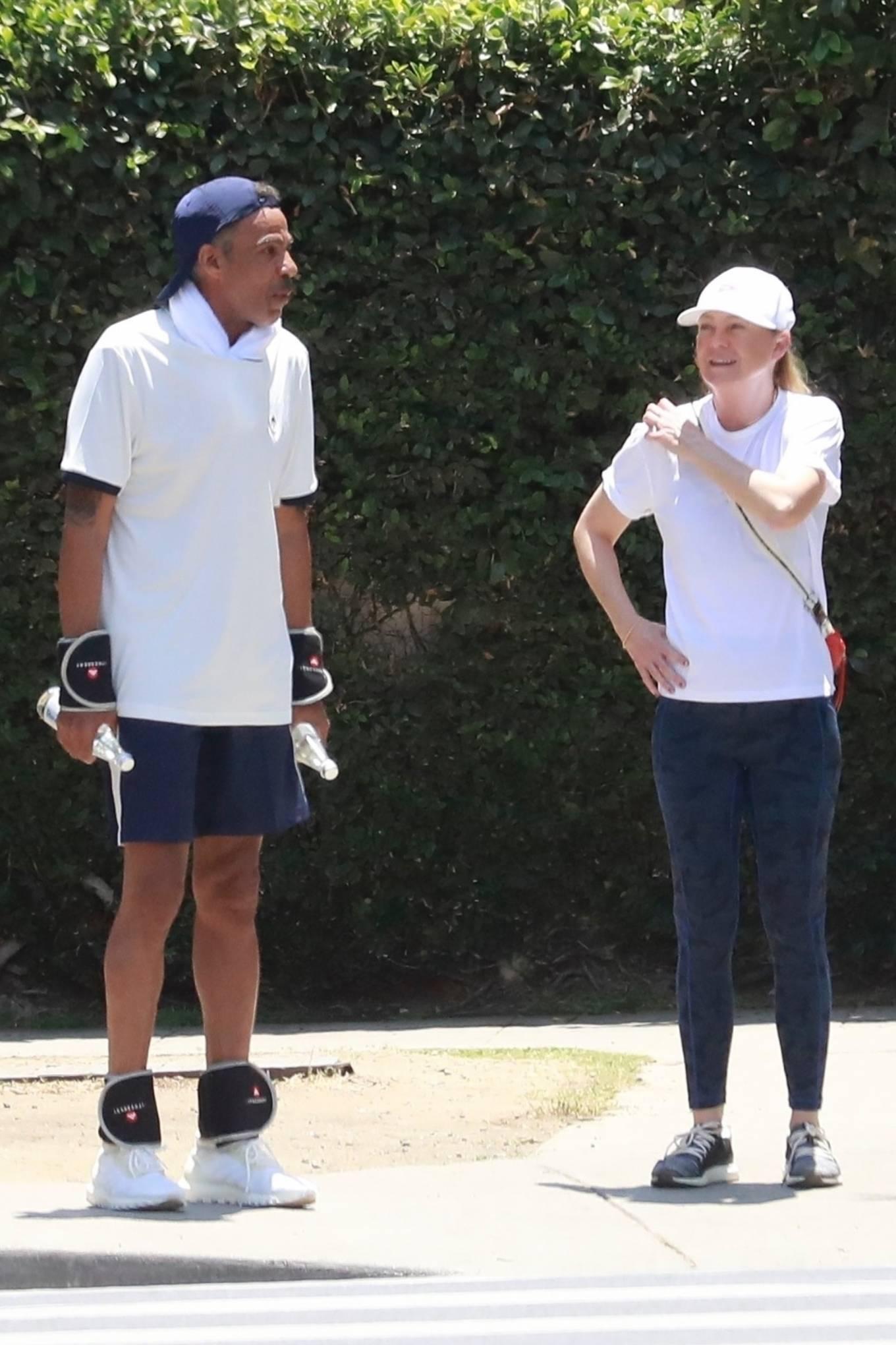 Ellen Pompeo - Out for a hike at Griffith Park in Los Feliz