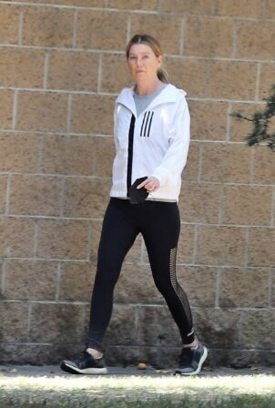 Ellen Pompeo - Out for a walk in Los Angeles
