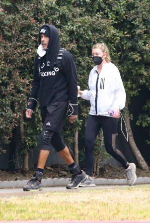 Ellen Pompeo - With Chris Ivery out to workout in Los Feliz