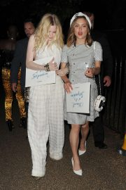 Ellie Bamber and Sophie Cookson - Arrives at Serpentine Gallery Summer Party in London