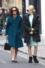 Ellie Bamber and Sophie Cookson - On the set of 'The Trial of Christine Keeler' in Bristol