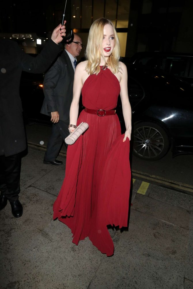 Ellie Bamber at the Dunhill Pre-BAFTA Filmmakers Dinner in London